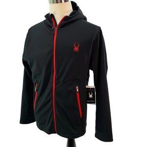 Spyder Men's HydroWEB Full Zip Ski Hoodei Sweater